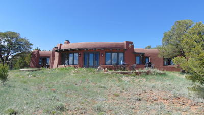 Cibola County Single Family Home For Sale: 26 Big Notch Forest Trail Trail