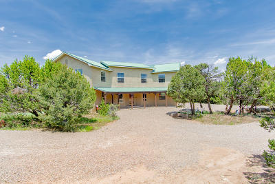 Tijeras Single Family Home For Sale: 22 Sandia Mountain Ranch Drive