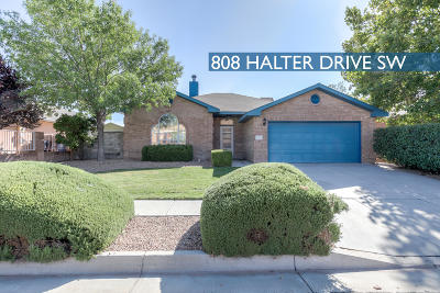 Albuquerque Single Family Home For Sale: 808 Halter Drive SW