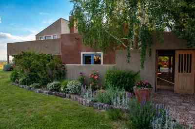 Taos County Single Family Home For Sale: * Des Montes
