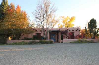 Taos County Single Family Home Active-Price Changed: 30 Eototo Road