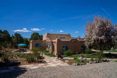 Taos County Single Family Home Active-Price Changed: 639 Don Nicolas Road
