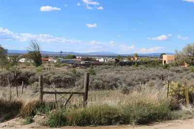 Taos Residential Lots & Land For Sale: Espinoza And Camino Del Caballo