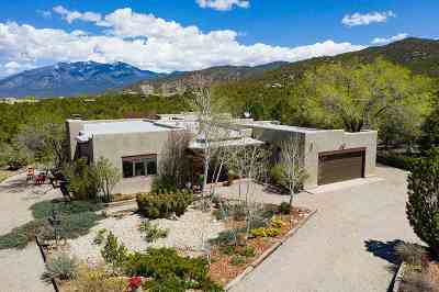Taos Single Family Home Back On Market: 1505 Foothills Trail