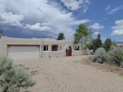 Taos Single Family Home For Sale: 1104 Juniper