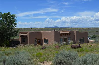 Taos County Single Family Home Active-Price Changed: 18 Camino De Miguel