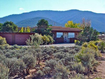 Taos County Single Family Home Active-Extended: 1457 Santa Cruz