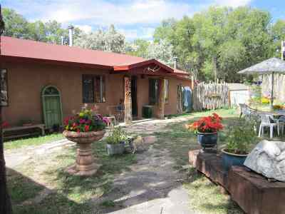 Taos Single Family Home Active-Extended: 502 La Lomita