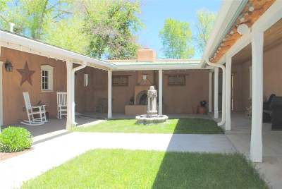 Taos County Single Family Home Active-Price Changed: 638 Upper Ranchitos