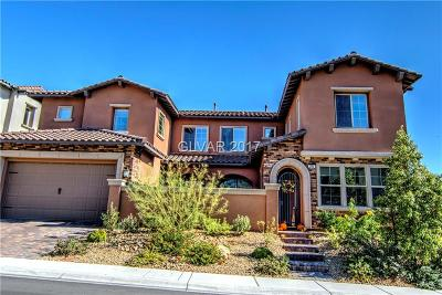 Las Vegas Single Family Home For Sale: 390 Calabria Ridge Street