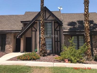 Las Vegas NV Condo/Townhouse For Sale: $135,000