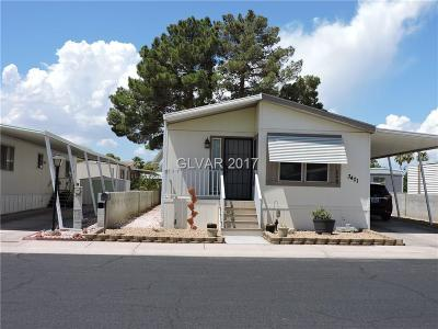Las Vegas Single Family Home For Sale: 3401 Fort Smith Drive