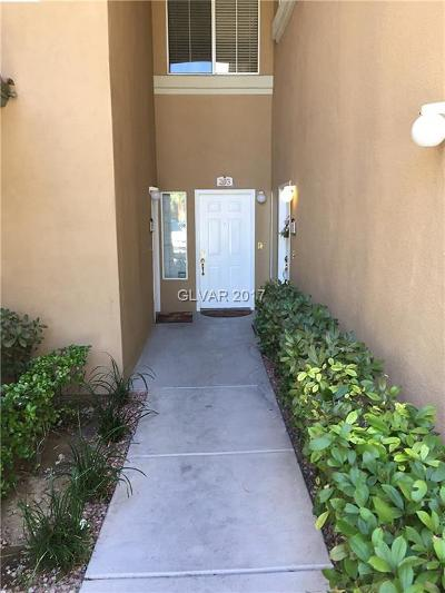 Las Vegas Condo/Townhouse For Sale: 8709 Red Brook Drive #103