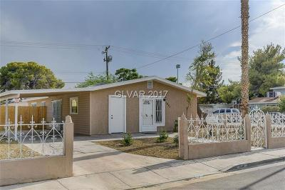 North Las Vegas Single Family Home Contingent Offer: 1601 Webb Avenue
