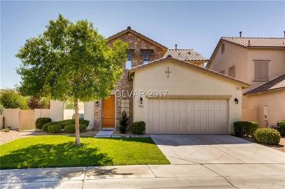 Henderson Single Family Home For Sale: 3025 Via Sarafina Drive
