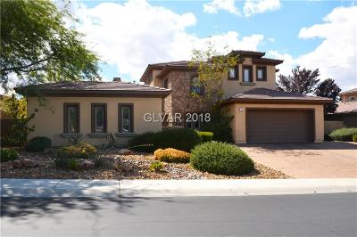 Henderson NV Single Family Home For Sale: $1,030,000