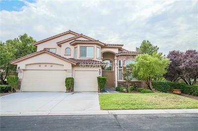 Las Vegas Single Family Home For Sale: 5469 San Bellasera Court