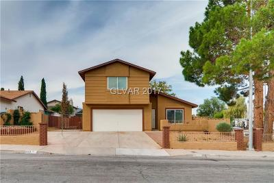 Las Vegas Single Family Home For Sale: 822 Cherry Drive
