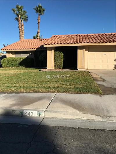 Henderson Single Family Home Contingent Offer: 2471 Marlene Way
