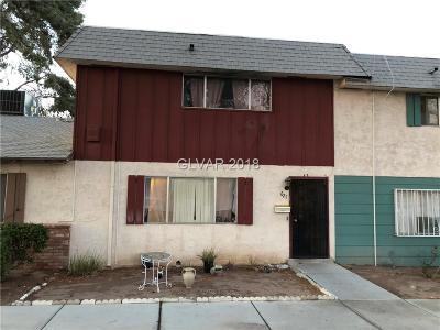Las Vegas Condo/Townhouse For Sale: 627 Pecos Way