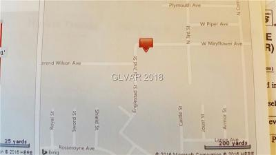 North Las Vegas Residential Lots & Land For Sale: West Mayflower Avenue