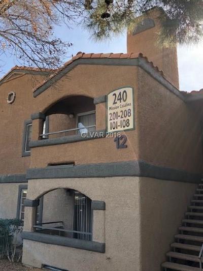 Las Vegas Condo/Townhouse For Sale: 240 Mission Catalina Lane #203