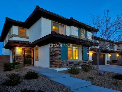 Henderson Single Family Home For Sale: 1100 Via Alloro
