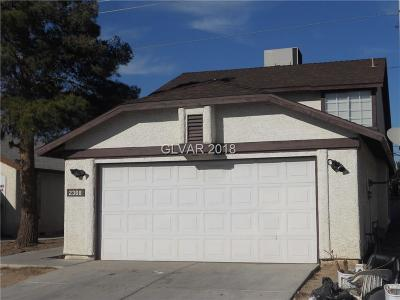 Las Vegas Single Family Home For Sale: 2368 Valley Drive