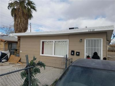 North Las Vegas Multi Family Home For Sale: 2328 McCarran Street