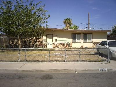 North Las Vegas Single Family Home For Sale: 1920 Bassler Street
