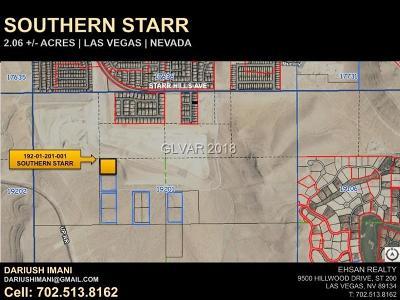 Las Vegas Residential Lots & Land For Sale: Starr Hills Avenue
