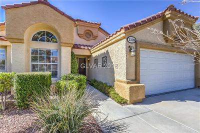 Single Family Home For Sale: 2139 Fountain Springs Drive