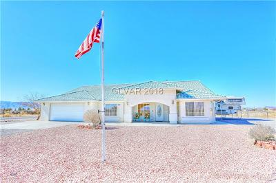 Single Family Home For Sale: 3840 South Pahrump Valley