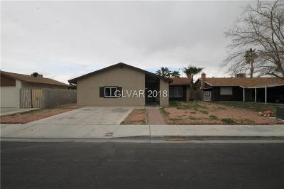Las Vegas Single Family Home For Sale: 3636 Tempe Street