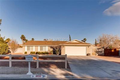 North Las Vegas Single Family Home For Sale: 4032 San Mateo Street