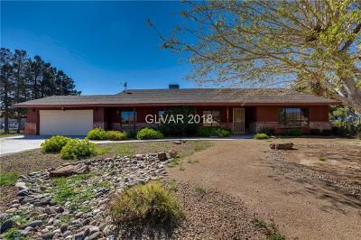 Clark County Single Family Home Contingent Offer: 9975 Rancho Destino Road