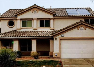 Las Vegas Single Family Home For Sale: 1073 Clairville Street