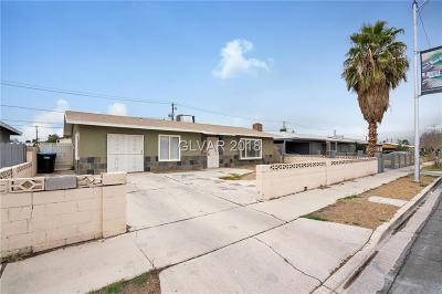 Las Vegas Single Family Home For Sale: 1650 G Street