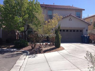 Las Vegas Single Family Home For Sale: 11898 Galvani Street