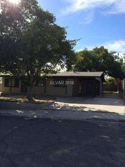 Las Vegas Single Family Home For Sale: 3113 Alcoa Avenue