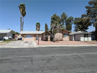Las Vegas Single Family Home For Sale: 6220 Eugene Avenue