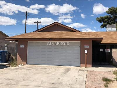 Las Vegas Single Family Home For Sale: 3184 Vegas Valley Drive