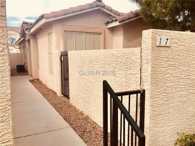 Las Vegas Condo/Townhouse For Sale: 17 Belle La Blanc Avenue