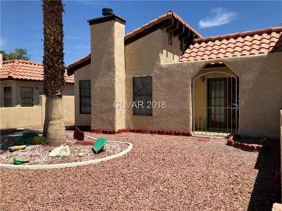 Las Vegas Condo/Townhouse For Sale: 2822 Mohawk Street