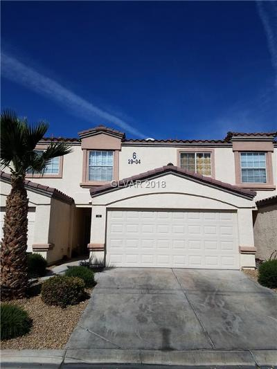 Las Vegas NV Condo/Townhouse For Sale: $150,000