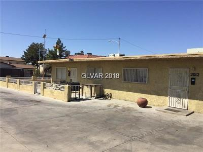 North Las Vegas Multi Family Home For Sale: 2012 Owens Avenue
