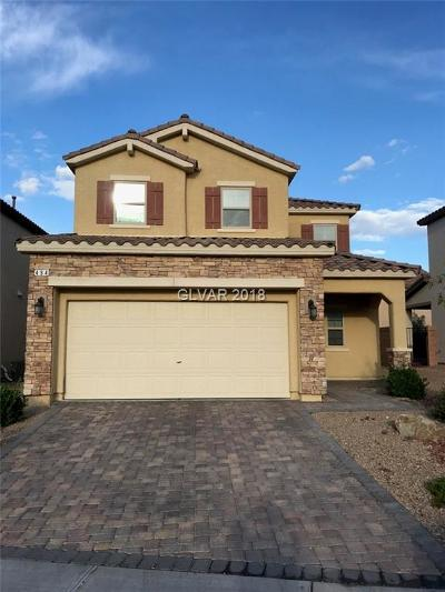Las Vegas Single Family Home Contingent Offer: 494 Eagle Glen Road