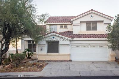 Henderson Single Family Home For Sale: 16 Palazzo Terrace