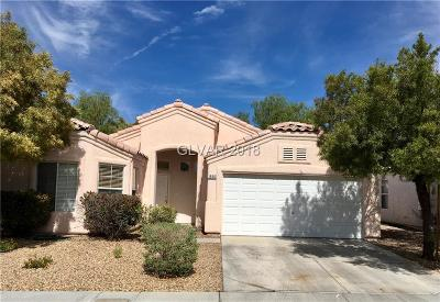 Single Family Home Contingent Offer: 1566 Dusty Canyon Street