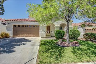 Henderson Single Family Home Contingent Offer: 269 Spring Palms Street